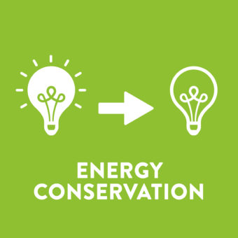 Energy Conservation refers to going without (turning lights off, for example).