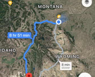 Tesla Trek - Billings to Salt Lake Route