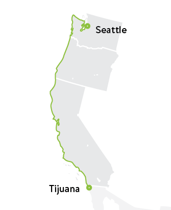 Seattle to Tijuana