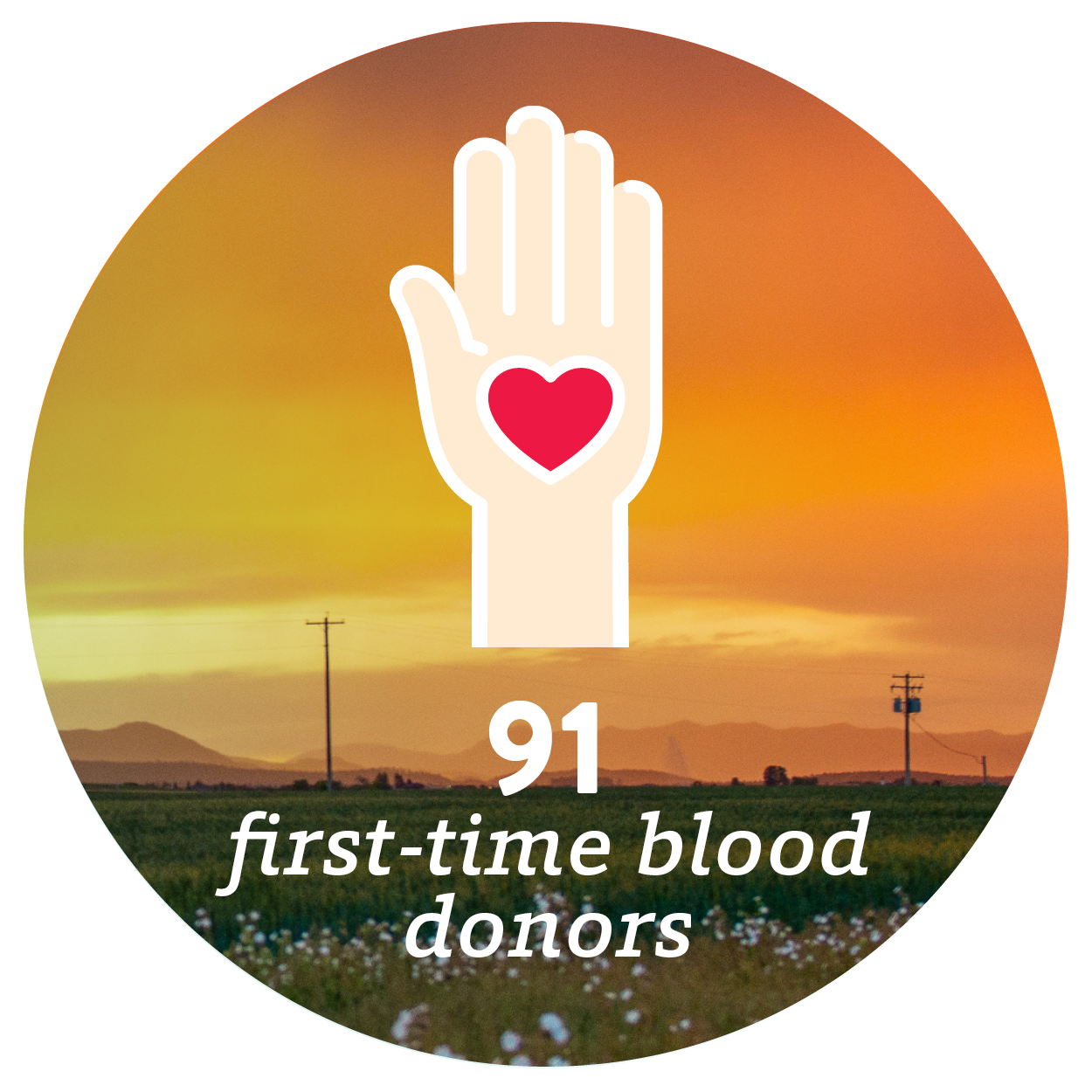 91 first-time blood donors