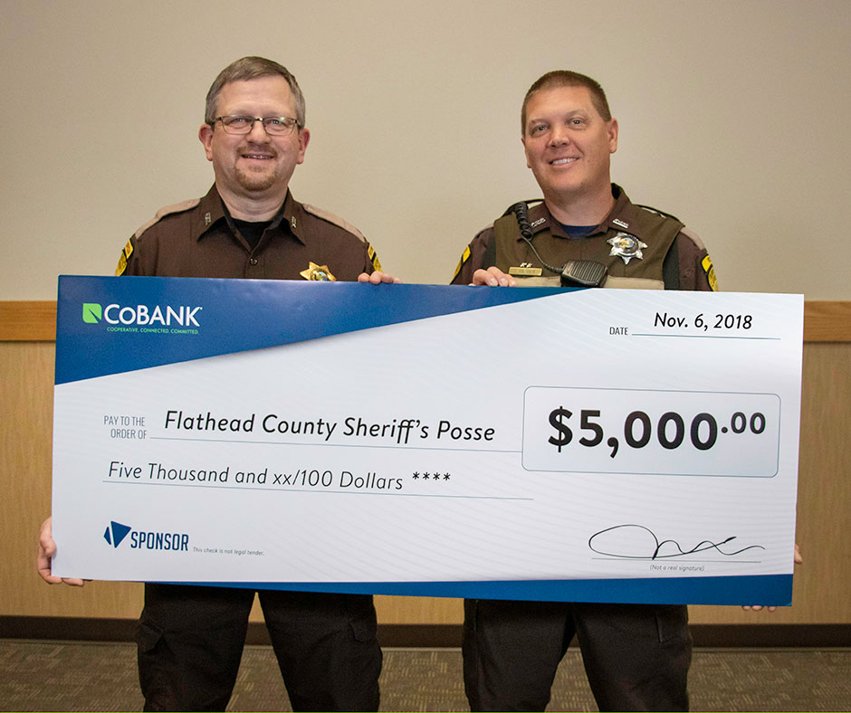 Sheriffs Posse Receives Check