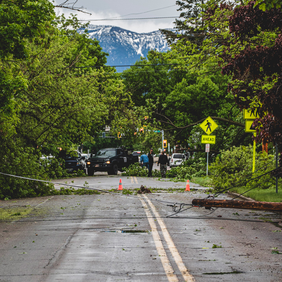Storm downs lines in Kalispell