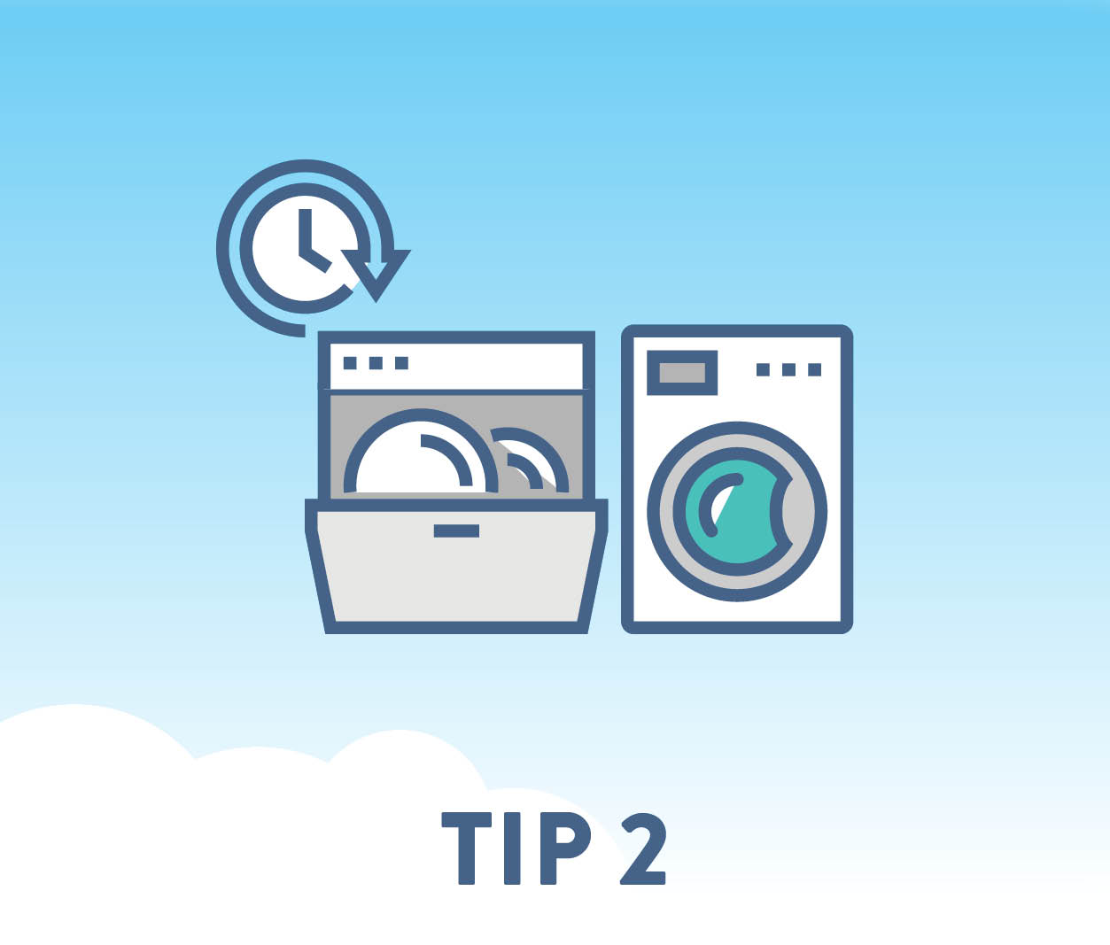 Set timers to run your dishwasher, clothes dryer and other appliances outside of peak hours.