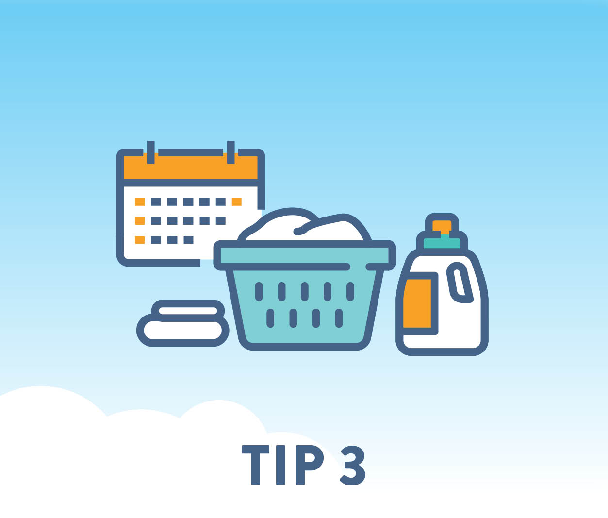 Do laundry and other chores that require significant amounts of electricity mid-day, later in the evening, or on weekends (outside of peak hours).