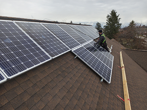 Solar panels installation for Flathead Youth Homes