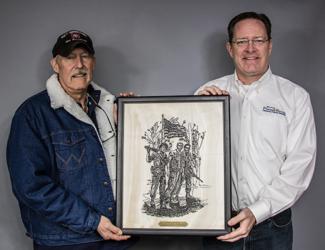 Co-op honored by Veterans.